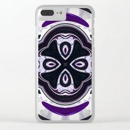 Decorative purple ornament design Clear iPhone Case
