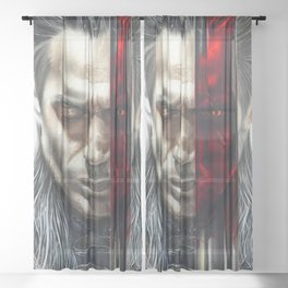 The Witcher Geralt of Rivia Sheer Curtain
