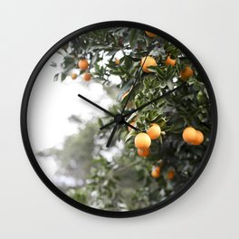 Ojai Oranges Wall Clock