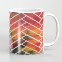 herringbone Mugs featuring Herringbone by Alyssa Clancy
