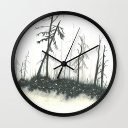 Forest Shadows Wall Clock
