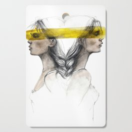 Twins sisters soulmates Cutting Board
