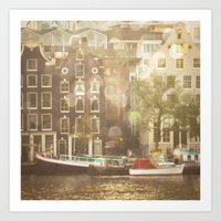 amsterdam Art Prints featuring Amsterdam by Cassia Beck