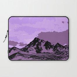 Chugach Mountains - EggPlant Pop Art Laptop Sleeve