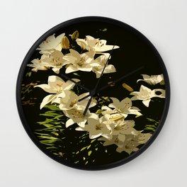 Lily Abstract Wall Clock
