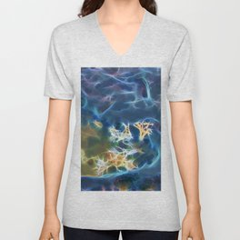 Abstract coralline algae in rock pool on beach in Queensland Unisex V-Neck