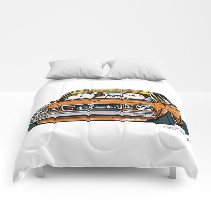 Crazy Car Art 0146 Comforters