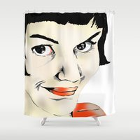 amelie Shower Curtains featuring Amelie by Bubble Trump Ltd