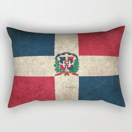 Old and Worn Distressed Vintage Flag of Dominican Republic Rectangular Pillow