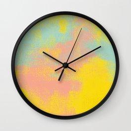 Pink Yellow Light Teal Wall Clock
