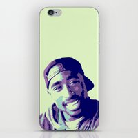 tupac iPhone & iPod Skins featuring Tupac by victorygarlic