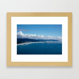View from Cape Lookout Framed Art Print