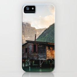 Lago di Braies iPhone Case