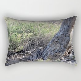Broken Trunk and Brush at Coachella Wildlife Preserve Rectangular Pillow