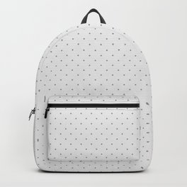 Minimal Charcoal Grey Polka Dots on Light Grey - Modern Scandi Chic Pattern Collection Backpack