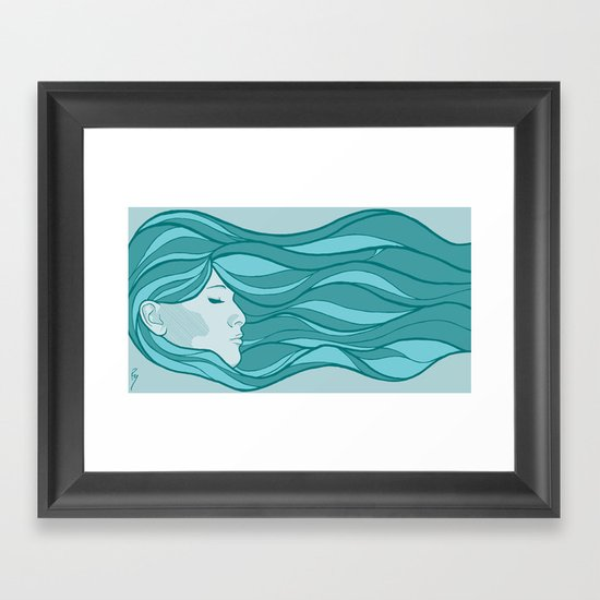 Deep Under Water Framed Art Print