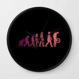 BMX EVOLUTION Funny Freesyle Biker Gift Cyclist Wall Clock