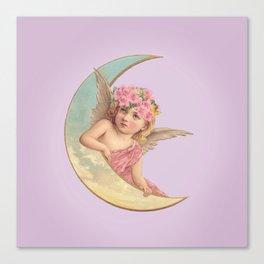 Victorian Moon Angel Canvas Print