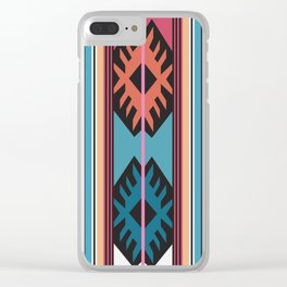 American Native Pattern No. 55 Clear iPhone Case
