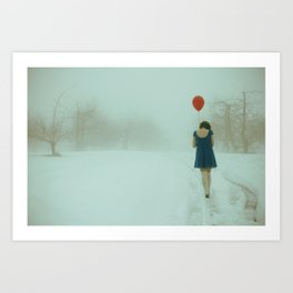 In Her Own World Art Print