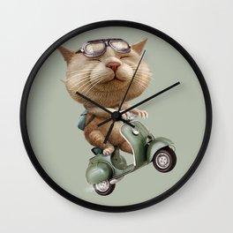 RUNAWAY CAT Wall Clock