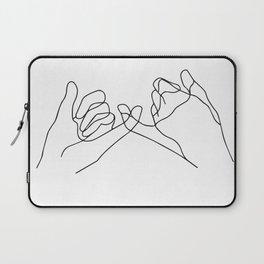 Pinky Swear one line Poster, Abstract art, abstract poster, modern art - Scandinavian art - Home Dec Laptop Sleeve