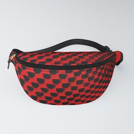 Eye Play in Black and Red Fanny Pack