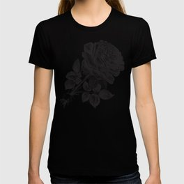 Engraved Rose Illustration T-shirt
