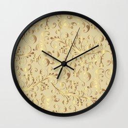 Swirls gold #3 Wall Clock