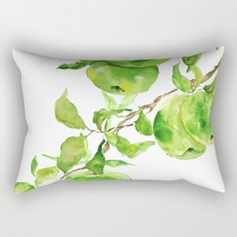 green apple watercolor Rectangular Pillow