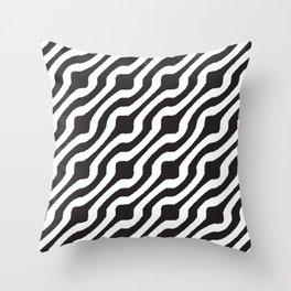 Marvin (white on black) Throw Pillow