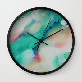Pink and Mint Wall Clock