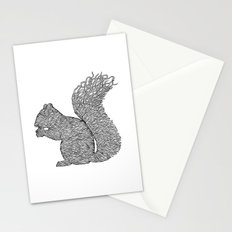 SQUIRREL LINES Stationery Cards