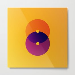 Yellow and Purple 8 (Eight) Metal Print