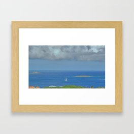 Sailing Along Framed Art Print