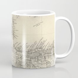 Vintage Map of Margarita Province (1850) Coffee Mug