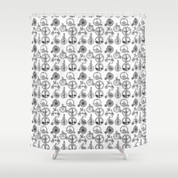 bicycles Shower Curtains featuring Vintage Bicycles by Campbell Creative