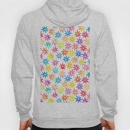 Vibrant Colors Floral Pattern Hoody