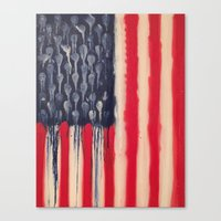 america Canvas Prints featuring America  by Matt Pecson