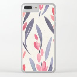 Simple Minimalist Floral Pattern Clear iPhone Case