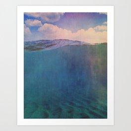 under over Art Print