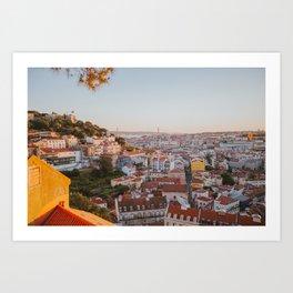 Golden Hour Lisbon Art Print