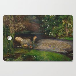 John Everett Millais - Ophelia Cutting Board