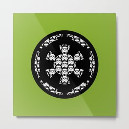 Imperial Cog Stormtroopers on Pea Green Metal Print