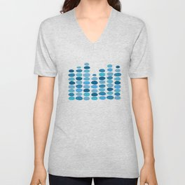 Shades of Blue Raindrops Unisex V-Neck
