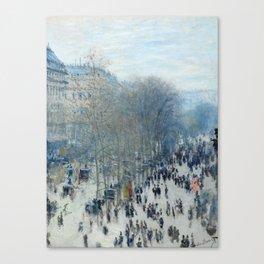 Claude Monet - Boulevard des Capucines, 1873 Canvas Print