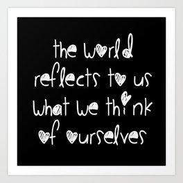 World Reflection Art Print