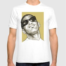 Ray Charles MEDIUM Mens Fitted Tee White