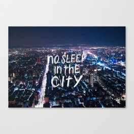 No Sleep in the City Canvas Print
