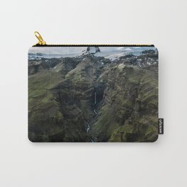 Panorama of hidden Waterfall in Iceland Carry-All Pouch